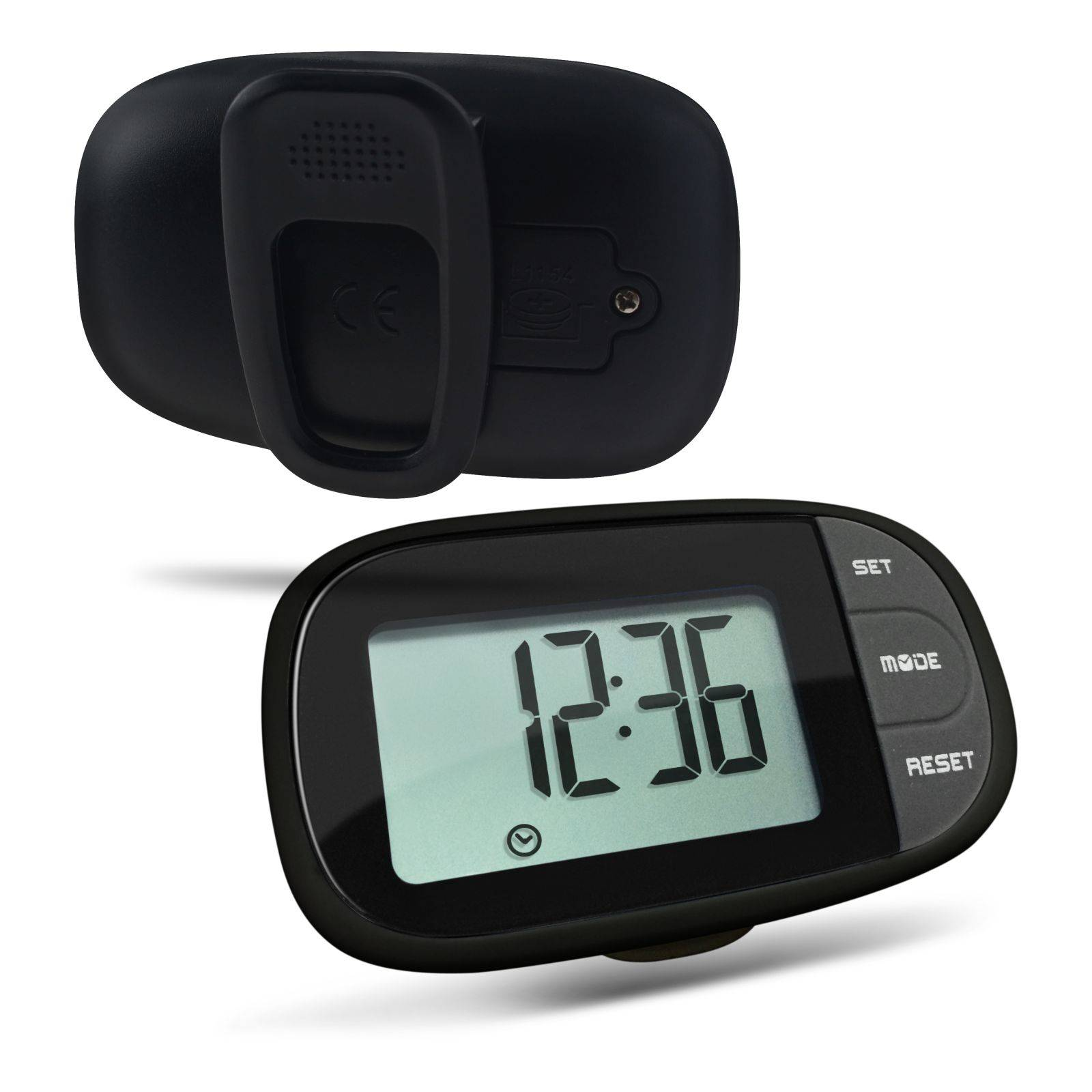 Belt clip calorie pedometer
