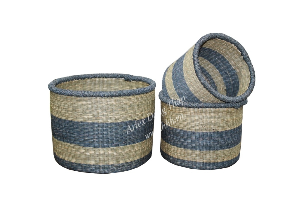 Best selling seagrass baskets, for office furniture - BH3006A-3MC