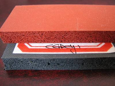 Dark red 100% virgin silicone sponge rubber sheet special for ironning machine
