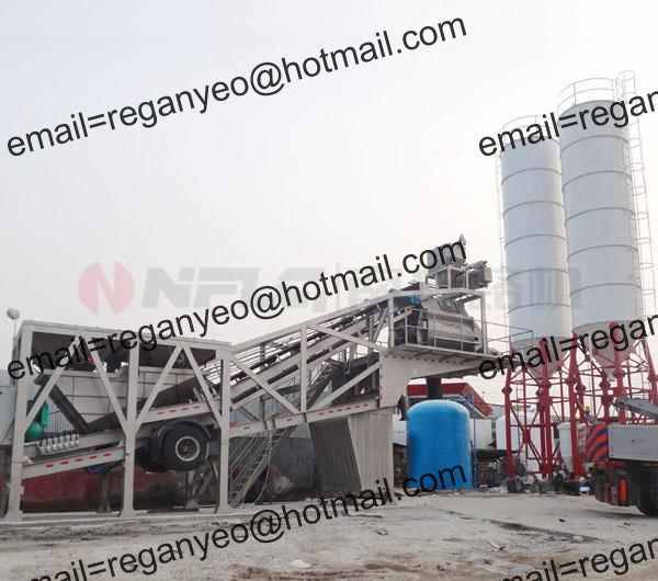Integral Mobile Concrete Mixing Station