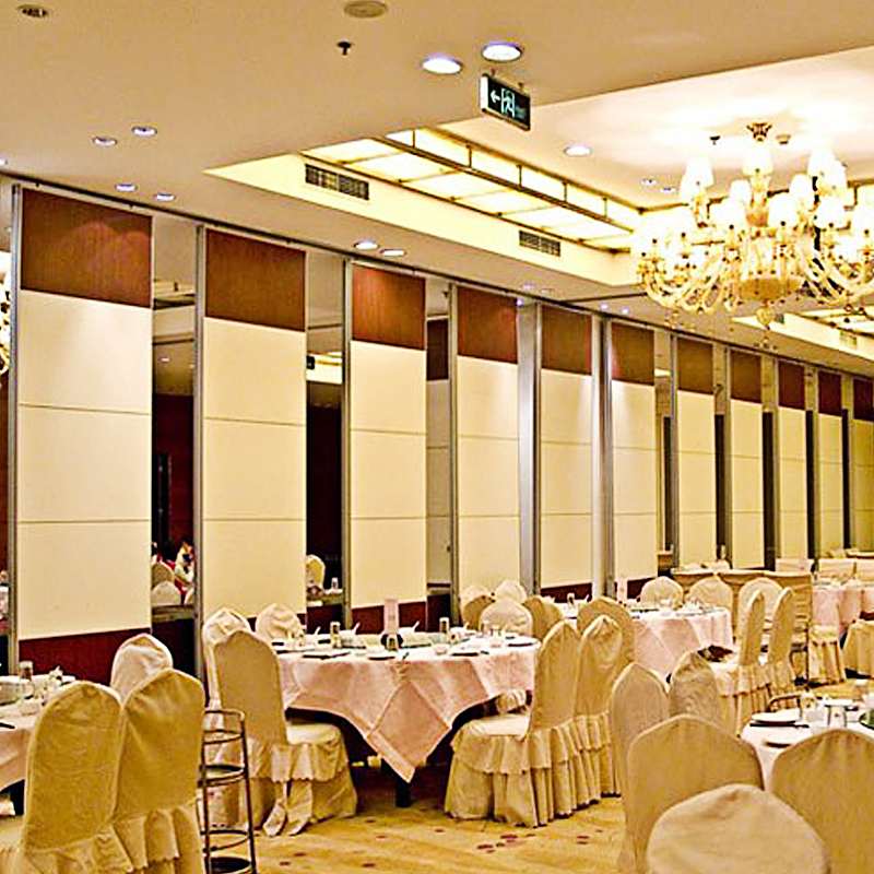 Commercial Office Partition Wall Aluminium Frame Sliding Restaurant Acoustic Room Divider