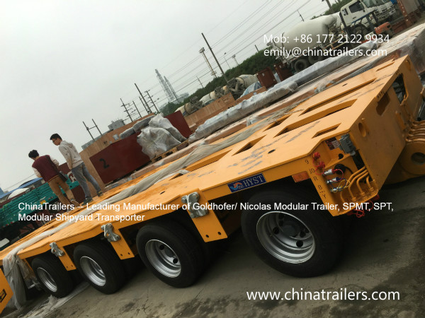 High Quality 300Ton Goldhofer Hydraulic Modular Trailer THP/SL SYV-3 YELLOW