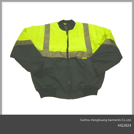 Hi Vis Reflective Safety Bomber Jacket