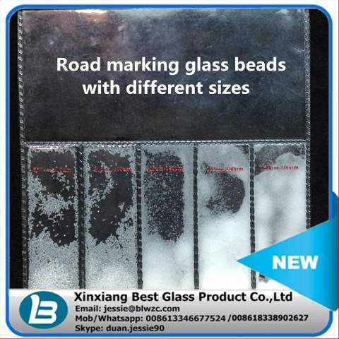 High roundness reflective glass beads for road safety thermoplastic paint with no impurity