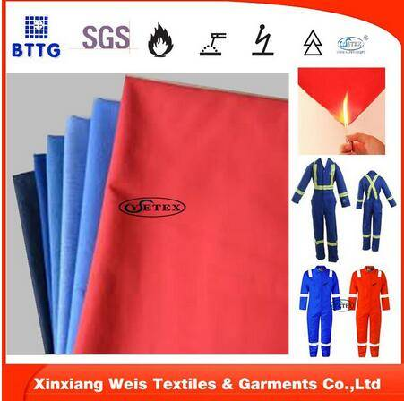 100 cotton cp flame retardant/electric resistant twil farbic