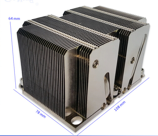 2017 New 2U Passive stack fin 160W LGA3647 CPU/Server heatsink with heat pipe