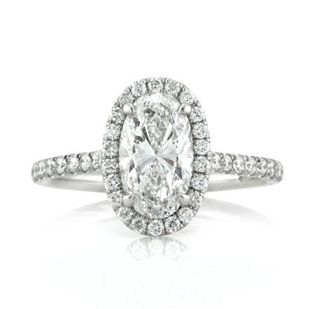 2.20ct Oval Cut Diamond Engagement Ring
