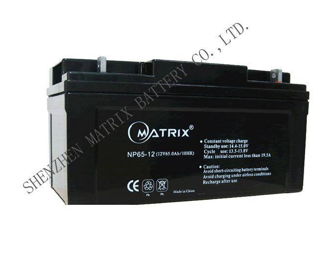 ups batteries 12V65Ah Valve Regulated lead-acid batteries