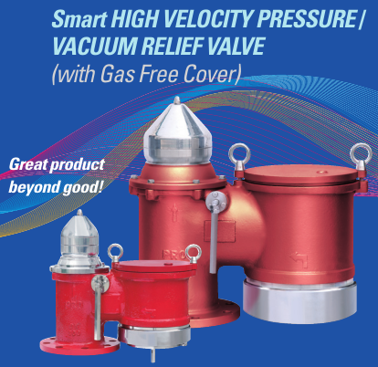 High Velocity Pressure and Vacuum Relief Valve