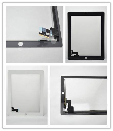 For Apple ipad 2 half assembly white/black