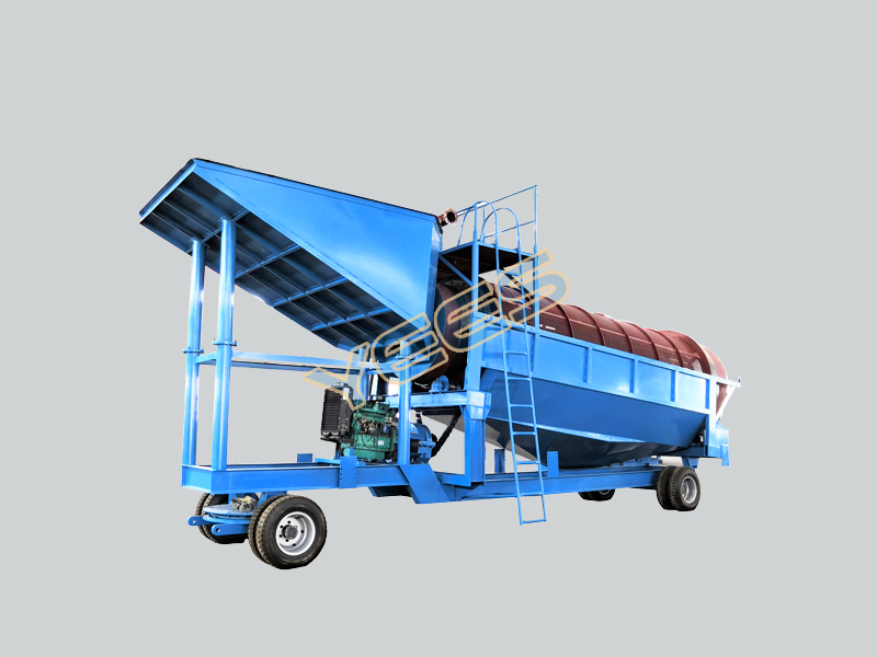 Alluvial Gold Mining Mobile Trommel Gold Washing Plant
