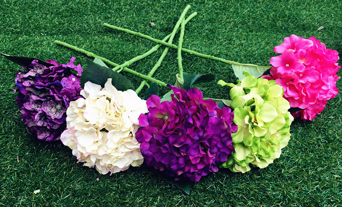Artificial Hydrangea Silk Flower MULIT COLOR Decorative Flower for Wedding Party Birthday Decoration
