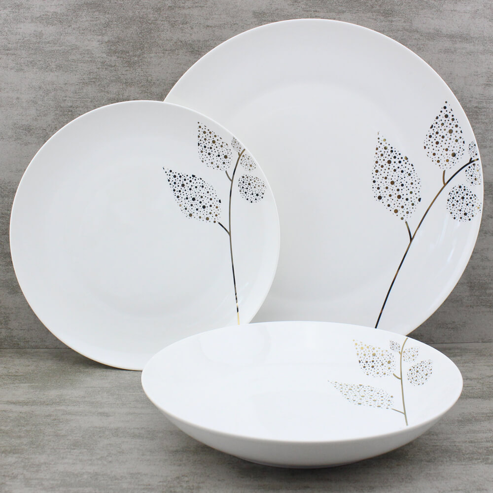 contemporary leaf dinnerware
