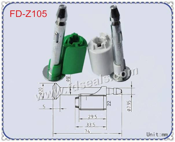 ISO17712: 2013 high security seal, contianer seal lock, bolt seal FD-Z105