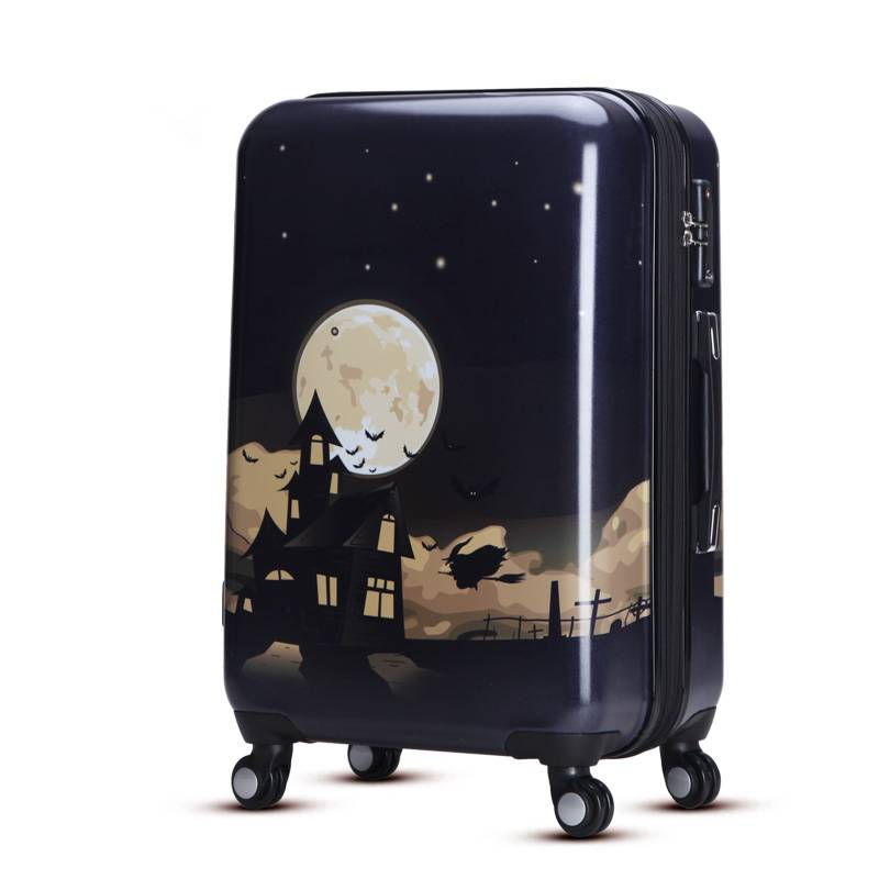 Fashion pc luggage with spinner wheel