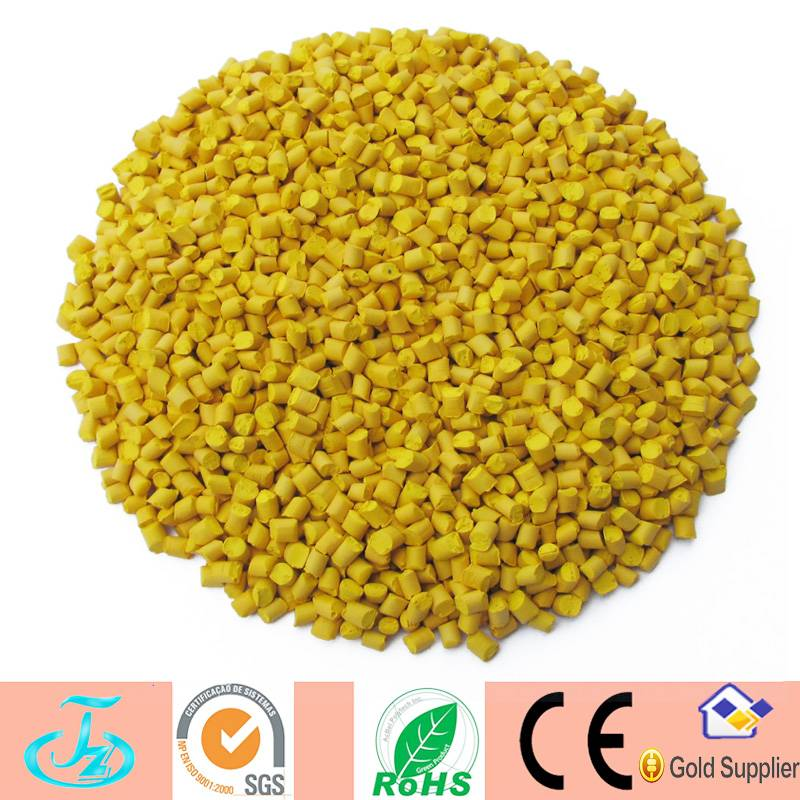 High dispersion yellow pigment color masterbatch