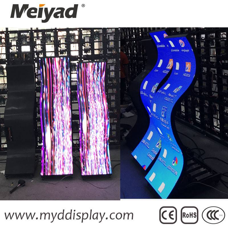 Creative Full Color P2.5/P3/P4/P5/P6/P10 indoor flexible led display board advertising video wall
