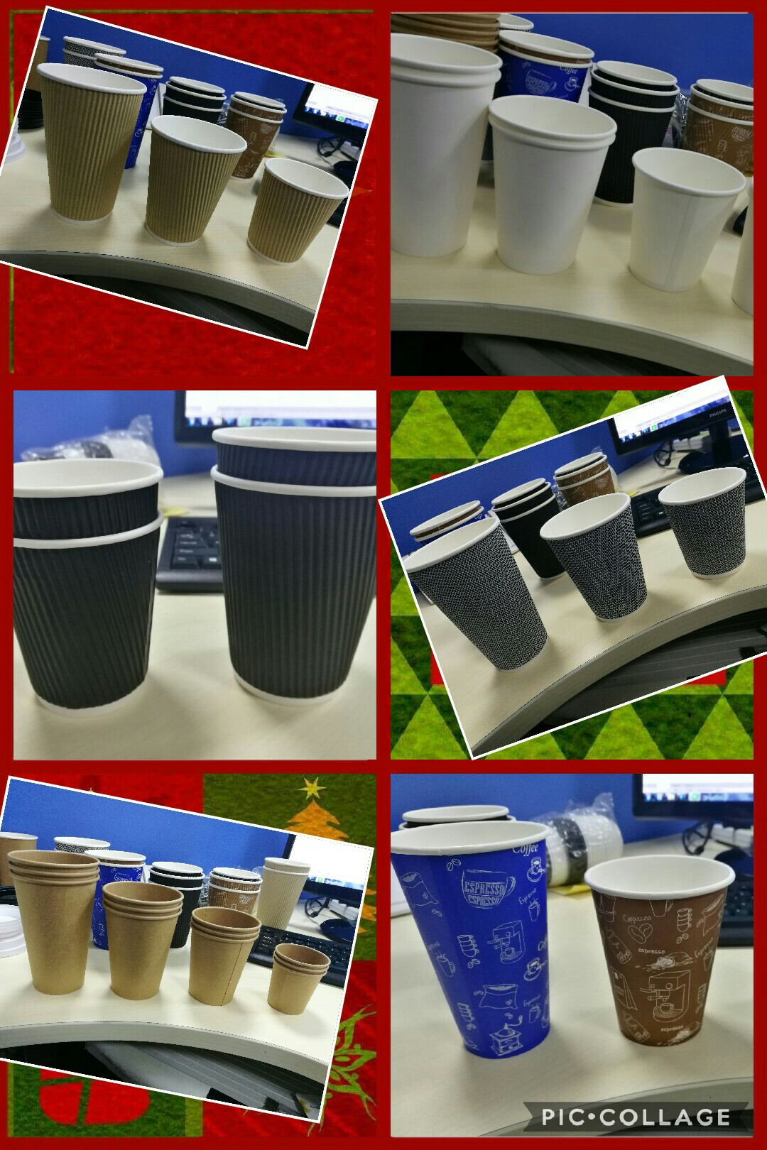 custom printed coffee takeaway paper cups