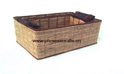 corn leaf baskets, corn leaf tray, rattan baskets