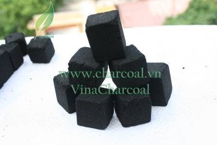 Smokeless Sparkless coconut shell charcoal briquette for hookah shisha