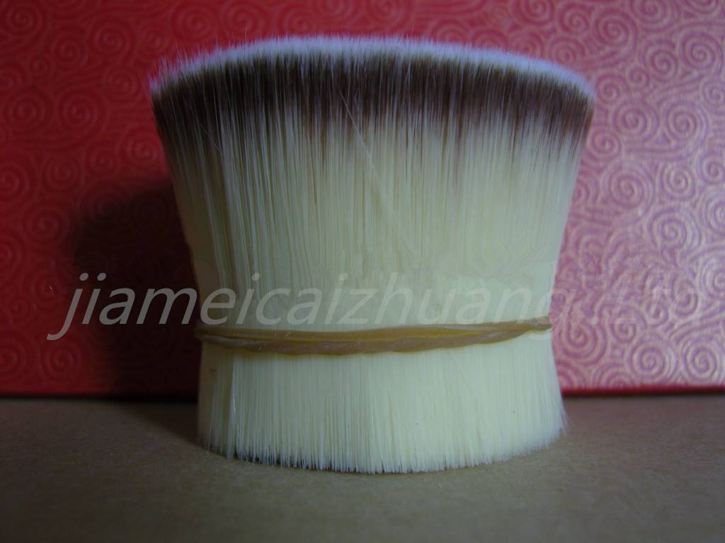 double colour synthetic hair material