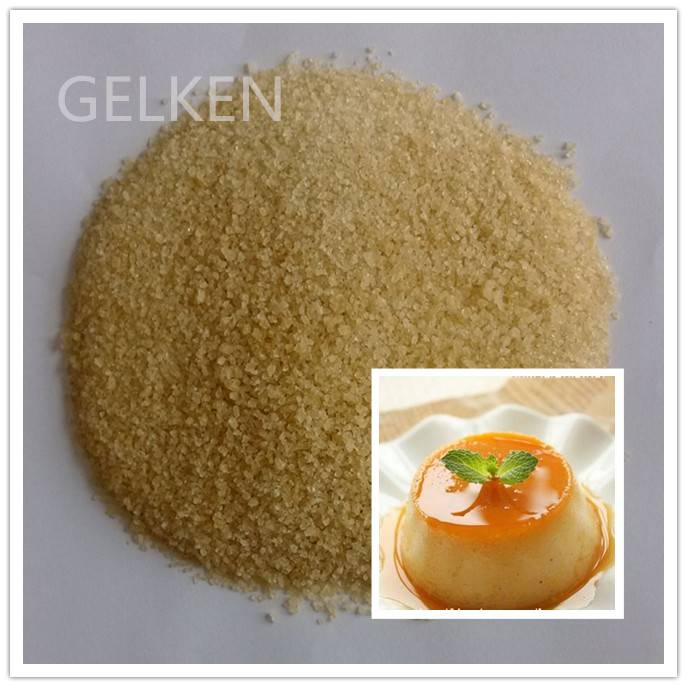 edible gelatin 200 bloom -220 bloom bovine bone gelatin for pudding