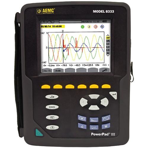 AEMC PowerPad III Model 8333 Power Quality Analyzers