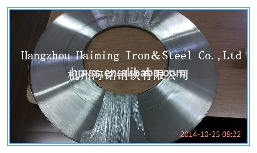316L stainless steel strip deburred edge for finned tube