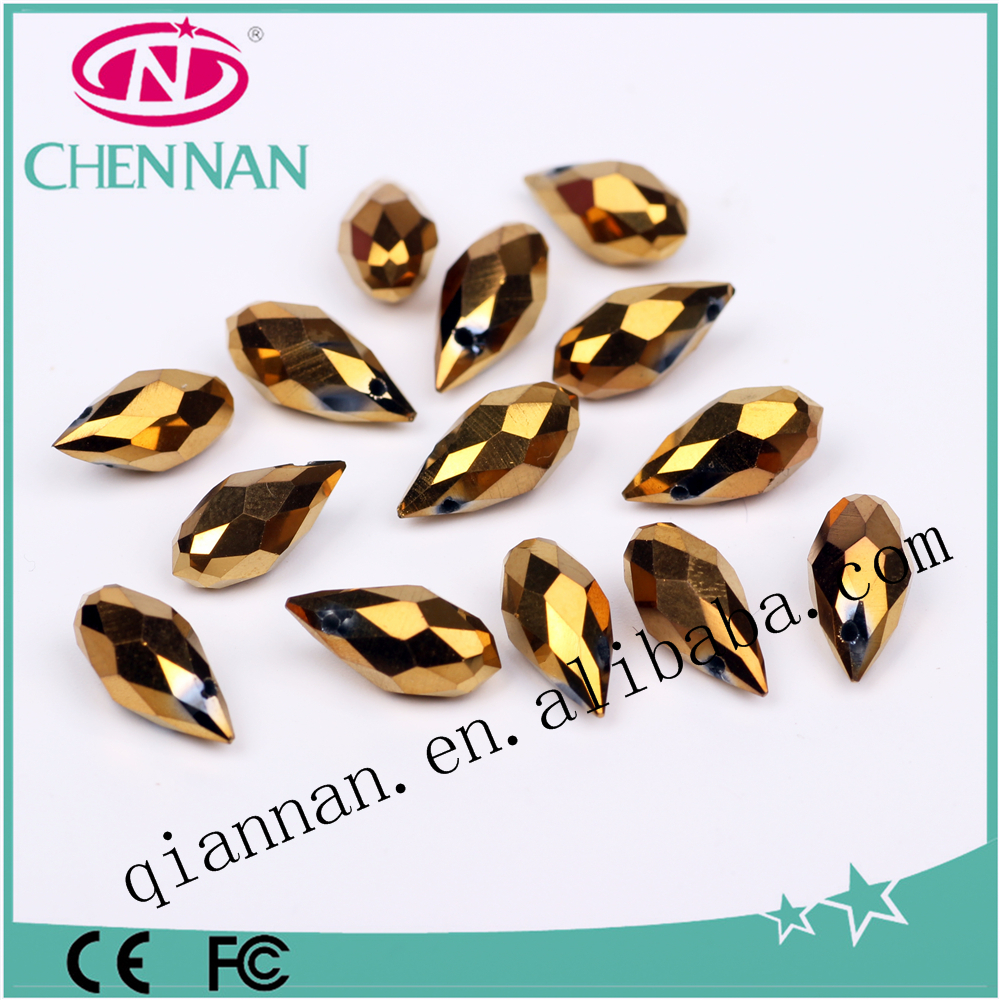pujiang hot sale Miyuki Delica Various Colours plating Top drilled hole teardrop crystal Beads