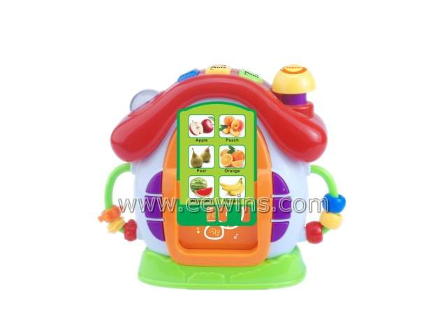 Toys clock insert card learning toys with study, test, music, repeat function