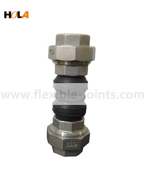 HOLA Steel threaded union rubber joint