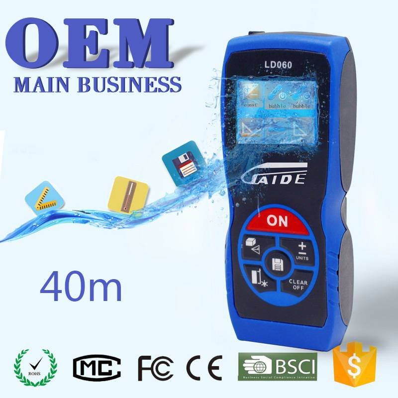 40m high accuracy +/-1mm display handheld new model digital handheld laser distance meter