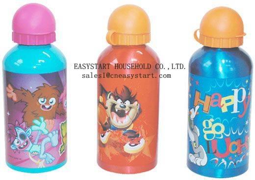 Cartoon aluminum water sports bottle