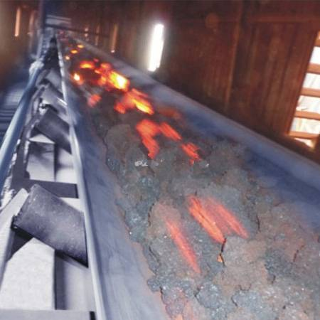high temperature resistant EP conveyor belt for hot coke with long service life