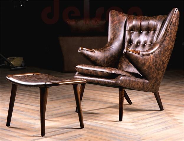 High Quality Hans J Wegner Style Papa Bear Chair And Ottoman