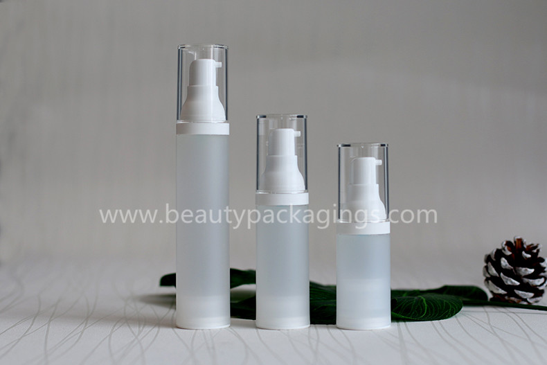 15ml 30ml 50ml Reusable Frosted Plastic Airless Lotion Essence Pump Bottle