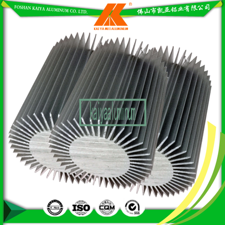 Customize Length 6063 Aluminum Round Heatsink For LED