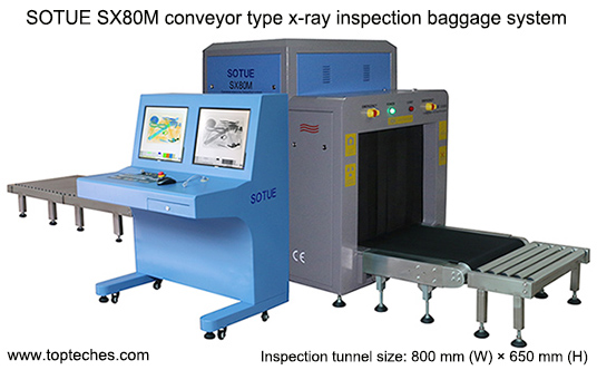 Large tunnel x-ray inspection system, x-ray baggage scanner, cargo scanner