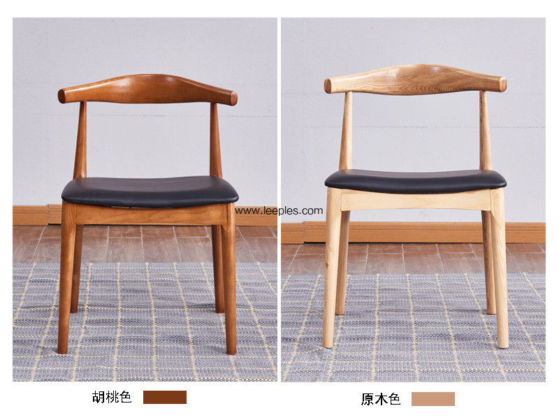 Solid Wooden Dining Chair With PU Cushion Indoor Use Furniture,Nordic style wooden chair,