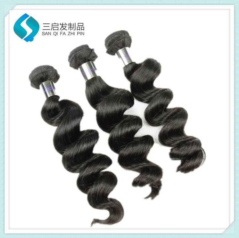 Large quantity human  loose wave in stock high quality hair weave
