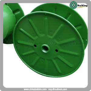 Reel with single wall rimmed flange in pressed steel reel for cable wire
