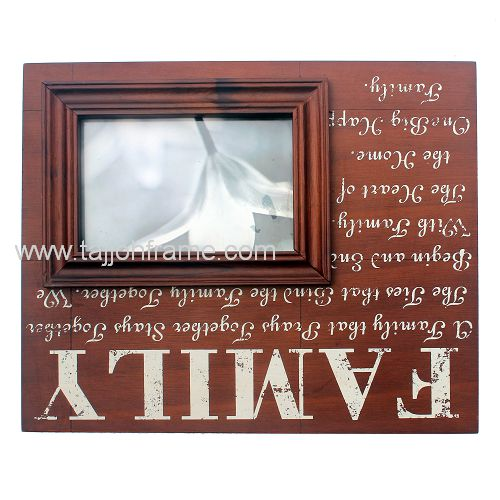 New Design Family Screen Printing Wooden Photo Frame