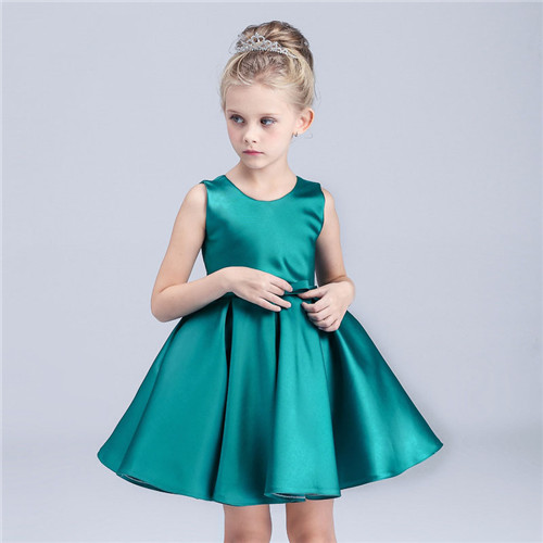 Children dress skirt girl long sleeve wedding dress new red bow Princess dress Baby girl Dress, flow