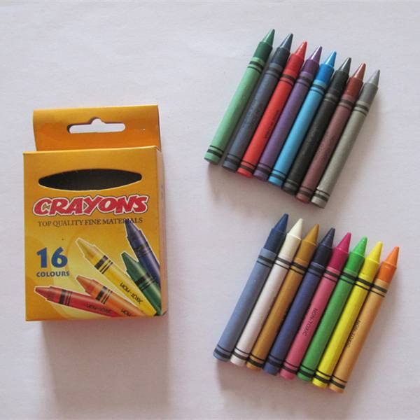 multi colors wax crayons with ASTM EN71 crayons for kids
