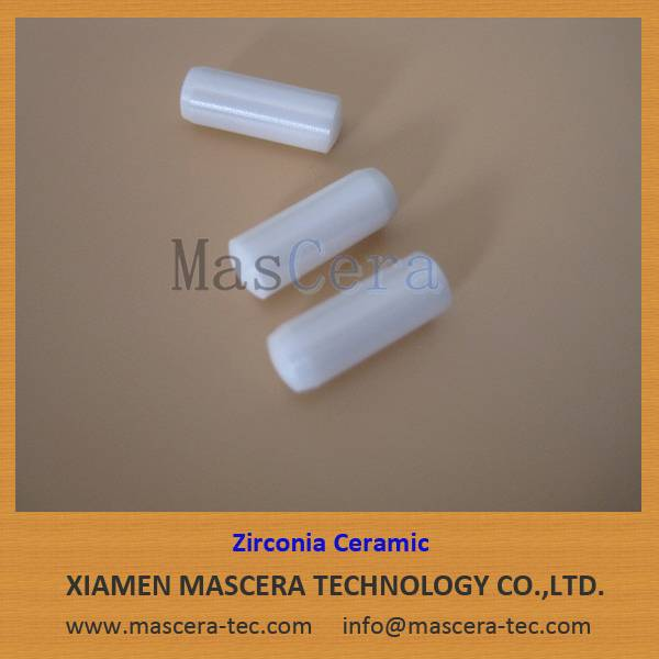 High Mechanical Strength/High Hardness Zirconia ZrO2 Ceramic Pin
