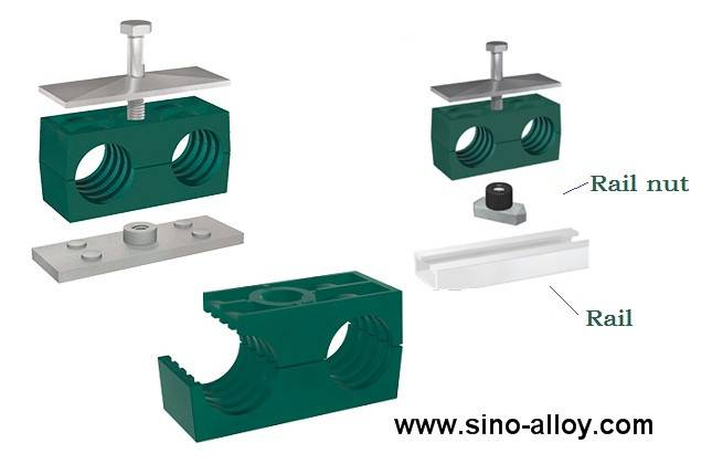 Hydraulic double pipe clamps