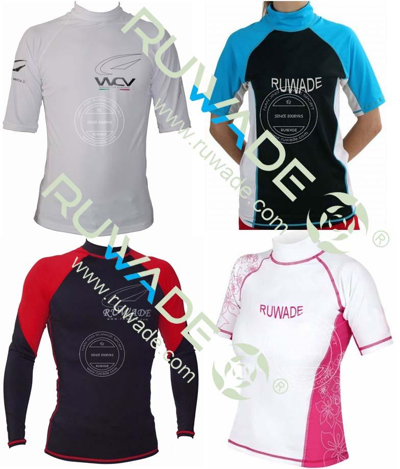 UV50+ Long and short sleeve lycra rash guard