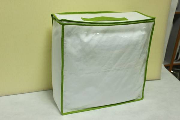 clear pvc comforter bag