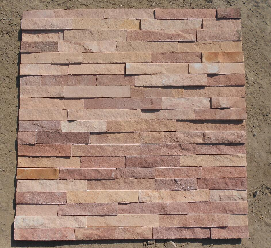 dark and light brown combination sandstone cultured stone 60x15cm