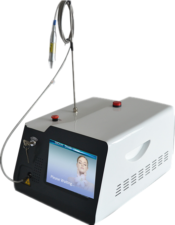 Portable 980nm diode laser vascular therapy machine red blood vessels spider vein removal 980 nm